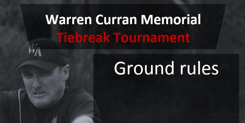 Ground Rules - Warren Curran Memorial Tournament